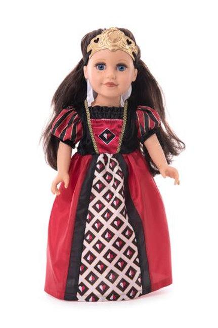 """18"""" Doll Queen of Hearts Villain Dress"""