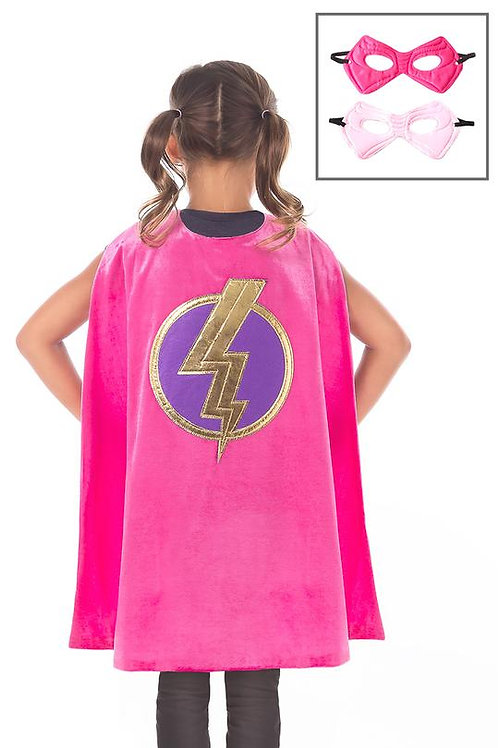 Pink Hero Cape and Mask Set