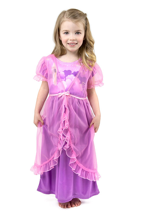 Rapunzel Glam Nightgown with Sheer White Robe