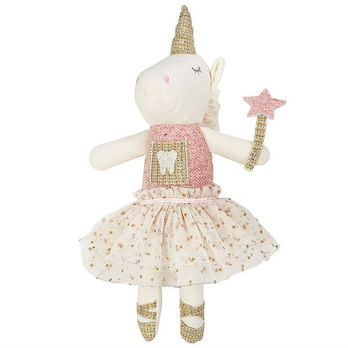 Mud-Pie Tooth Fairy Unicorn Doll