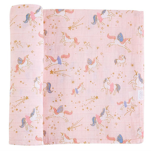 Unicorn Muslin Swaddle Blanket