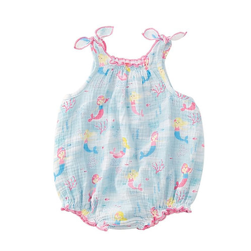 Blue Mermaid Sunsuit Bubble