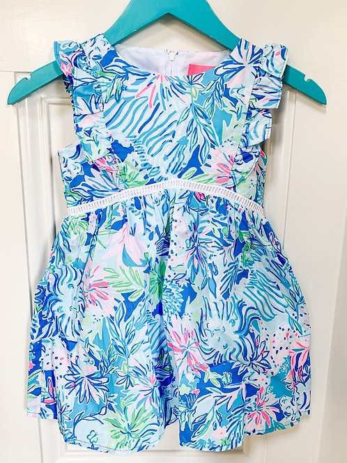 Lilly Madelina Floral A-Line Coastal Blue Lion Around