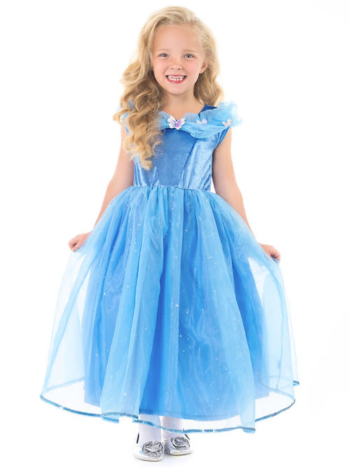 Deluxe Cinderella Butterfly Blue Dress