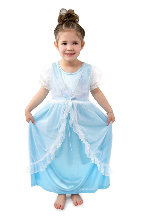 Cinderella Glam Nightgown with Sheer White Robe
