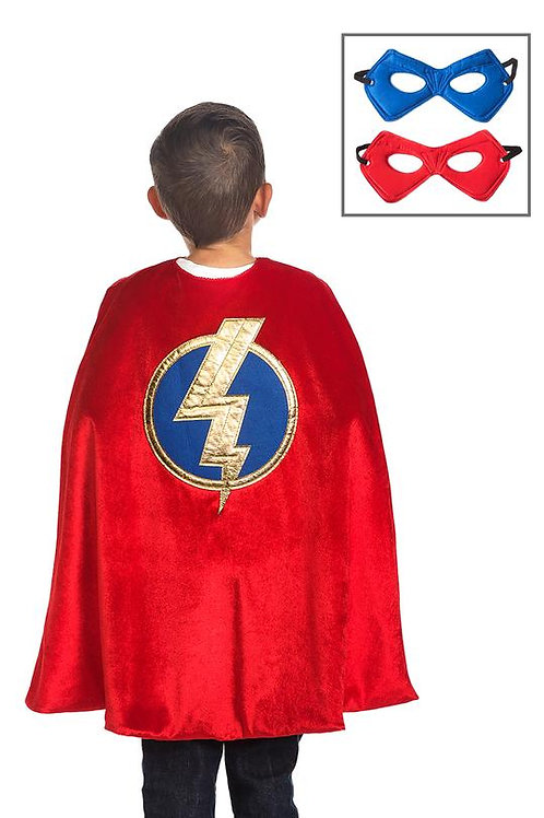Red Hero Cape and Mask Set