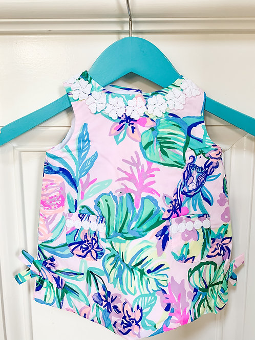 Baby Lilly Classic Shift Dress w Bloomers Amethyst Tint Mermaid in the Shade