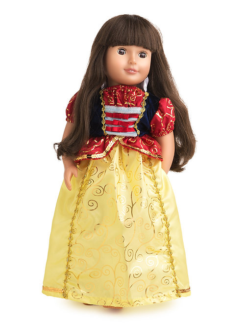 """18"""" Doll Snow White Gown"""
