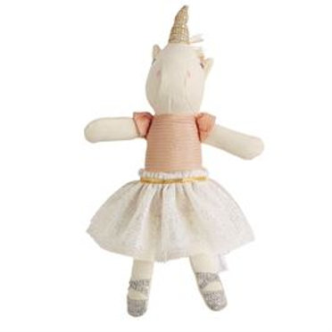 Mud-Pie Unicorn Doll Rattle Toy White Tutu