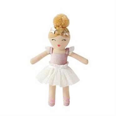 Mud-Pie Ballerina Doll Rattle Toy White Tutu