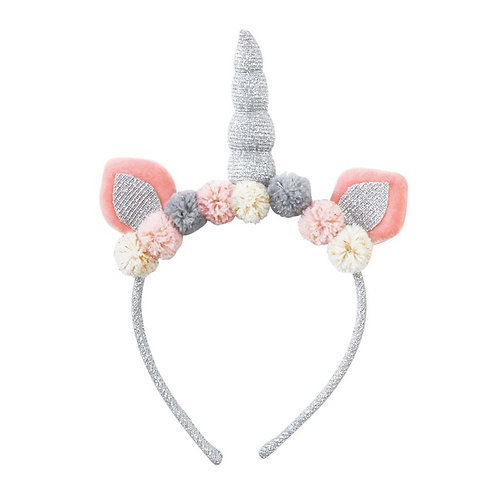 Mud-Pie Unicorn Headband Silver
