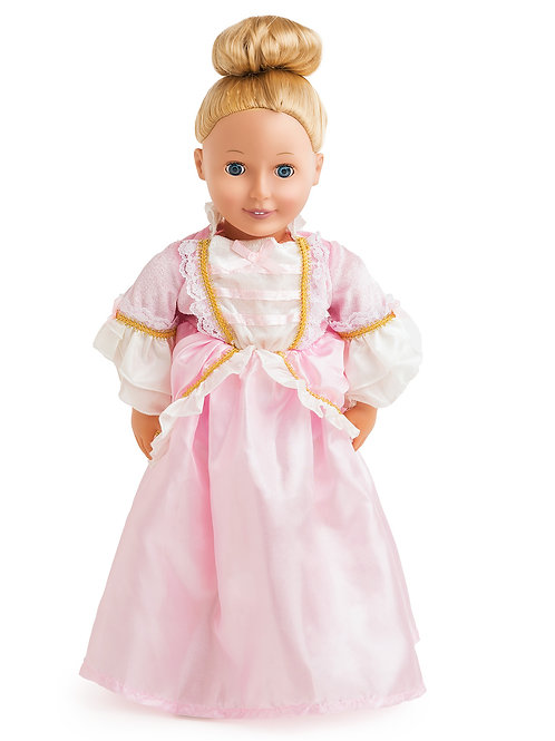 "18"" Doll Pink Parisian Princess Gown"