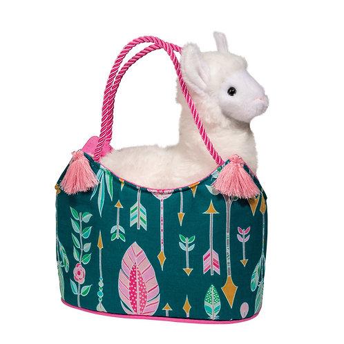 Aqua Dream Sassy Sak with White Llama