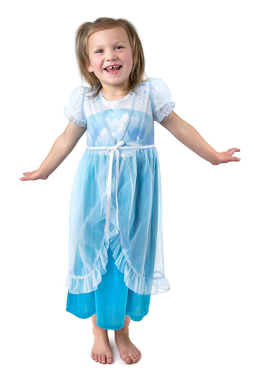 Ice Princess Glam Nightgown with Sheer White Robe
