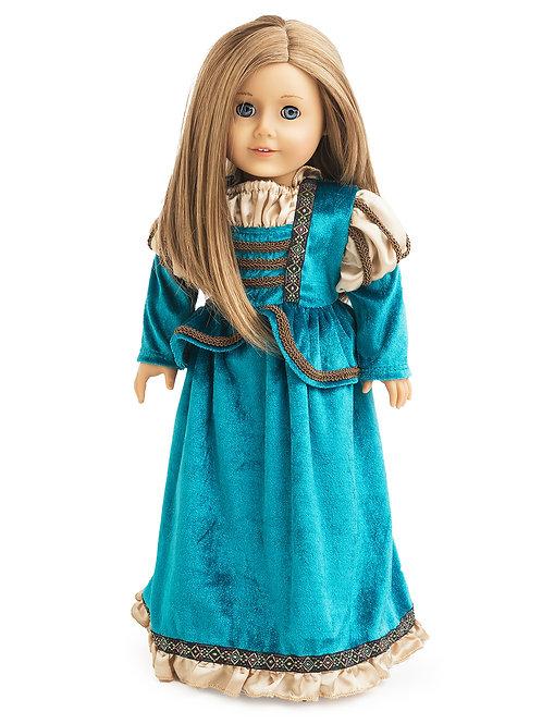 "18"" Doll Scottish Princess Gown"