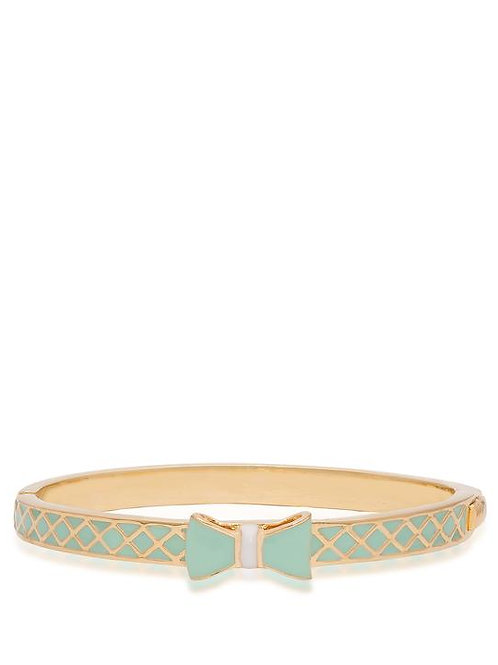 18K Gold Plated Children's Bow Bangle Bracelet Mint
