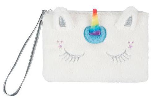 Unicorn Fuzzy Wristlet with 4 Color Change Lip Balms