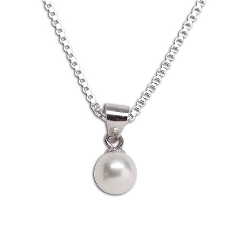 Sterling Silver Children's Pearl Necklace