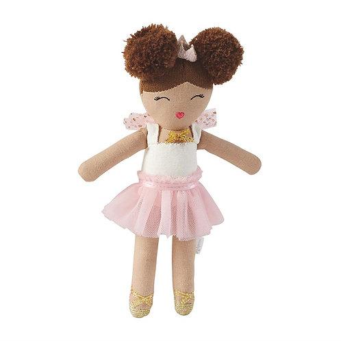 Mud-Pie Ballerina Doll Rattle Toy Pink Tutu