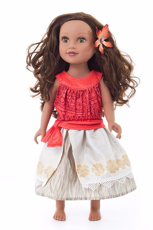 "18"" Doll Polynesian Princess Outfit"