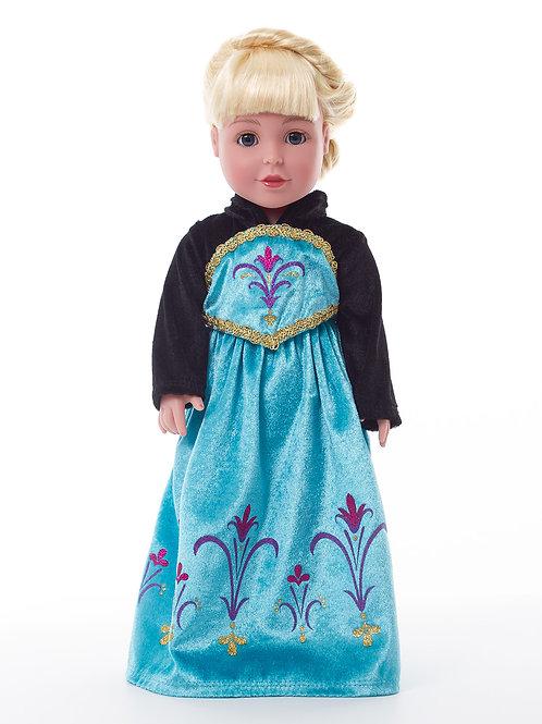 "18"" Doll Ice Princess Coronation Gown"