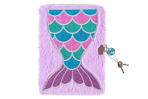 Mermaid Fuzzy Diary and Marabou Pen