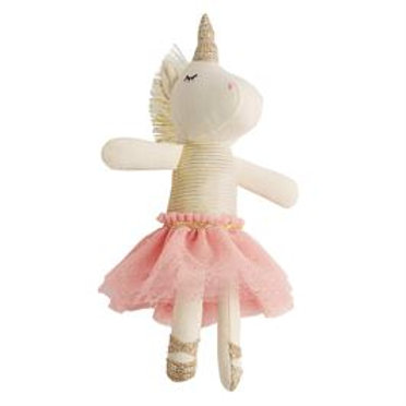 Mud-Pie Unicorn Doll Rattle Toy Pink Tutu