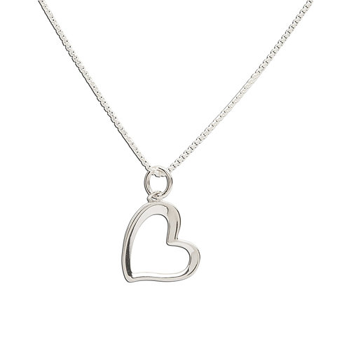 Sterling Silver Children's Sassy Heart Necklace