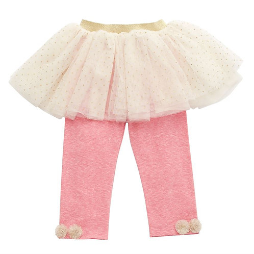 Ivory Sparkle Tutu Leggings
