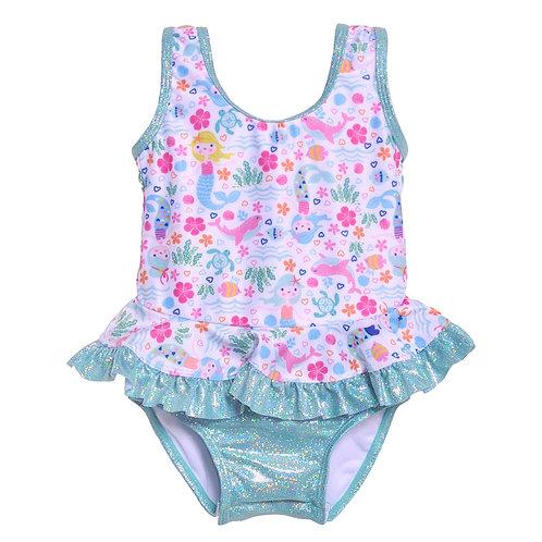 UPF 50+ Stella Infant Ruffle Swimsuit | Mermaid Lagoon