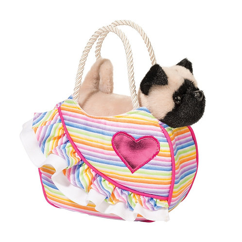 Love Rainbows Sassy Sak with Pug