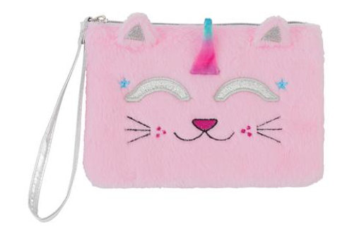 Caticorn Fuzzy Wristlet with 4 Color Change Lip Balms