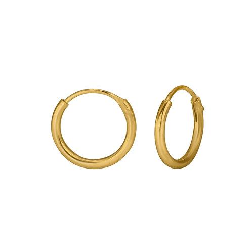 14K Gold-Plated Endless Hoop Earrings