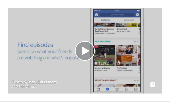 Facebook TV - מרגיש קרוב יותר מתמיד