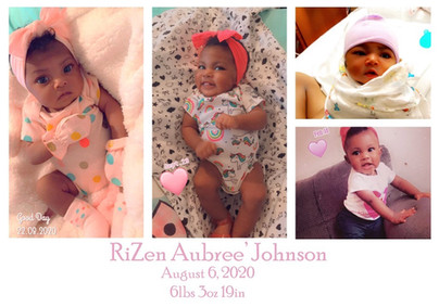 Birth of RiZen Aubree' Johnson
