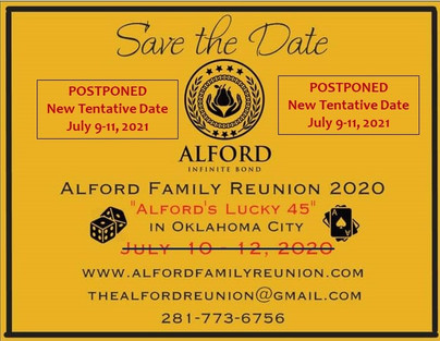 Postponement of the 2020 Family Reunion