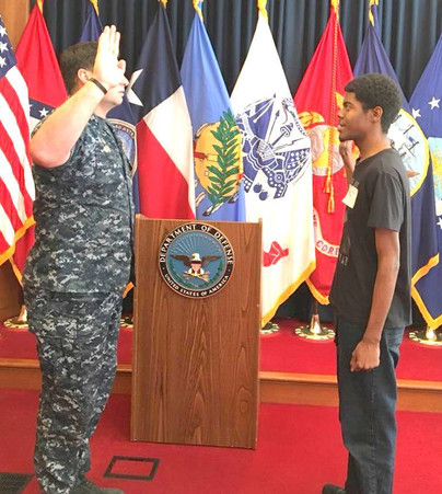 Christopher Jordan Abraham Enlists