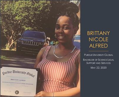 Graduate Brittany Nicole Alfred