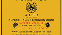 Save the Date - Alford Reunion 2020
