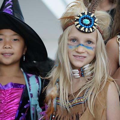 "Halloween Parade in Russian School ""Olympus"""