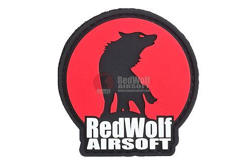Redwolf Logo Velcro PVC Patch (Red)
