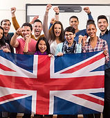 team of students with union jack