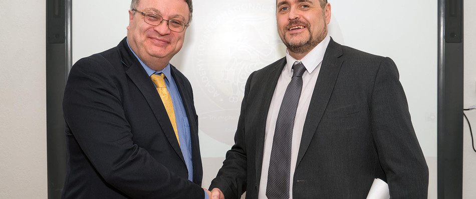 Dr Stephen Farry and Dr Terry McIvor
