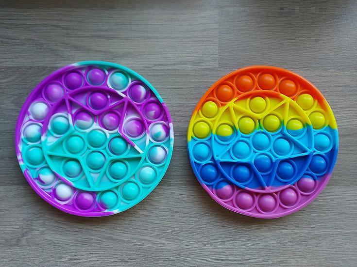 Circular fidget popper - varied styles