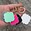 Thumbnail: Enamel coated tile shaped keyring