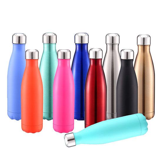 500ml Stainless Steel Water Bottle - Matte & Glossy
