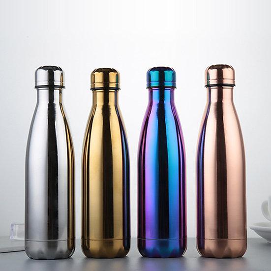 500ml Stainless Steel Water Bottle - Metallic