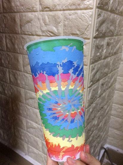 PRE-ORDER 24oz Tie Dye colour change cold cups