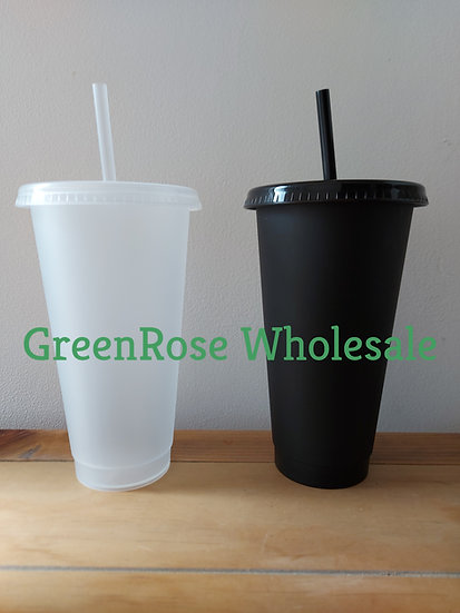 Clear & Black Cold Cups