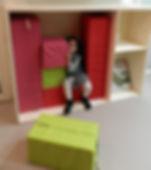 Mobilier pédagogique les Petits Petons designés par l'Atelier Miquel Architecture à Lagny sur Marne